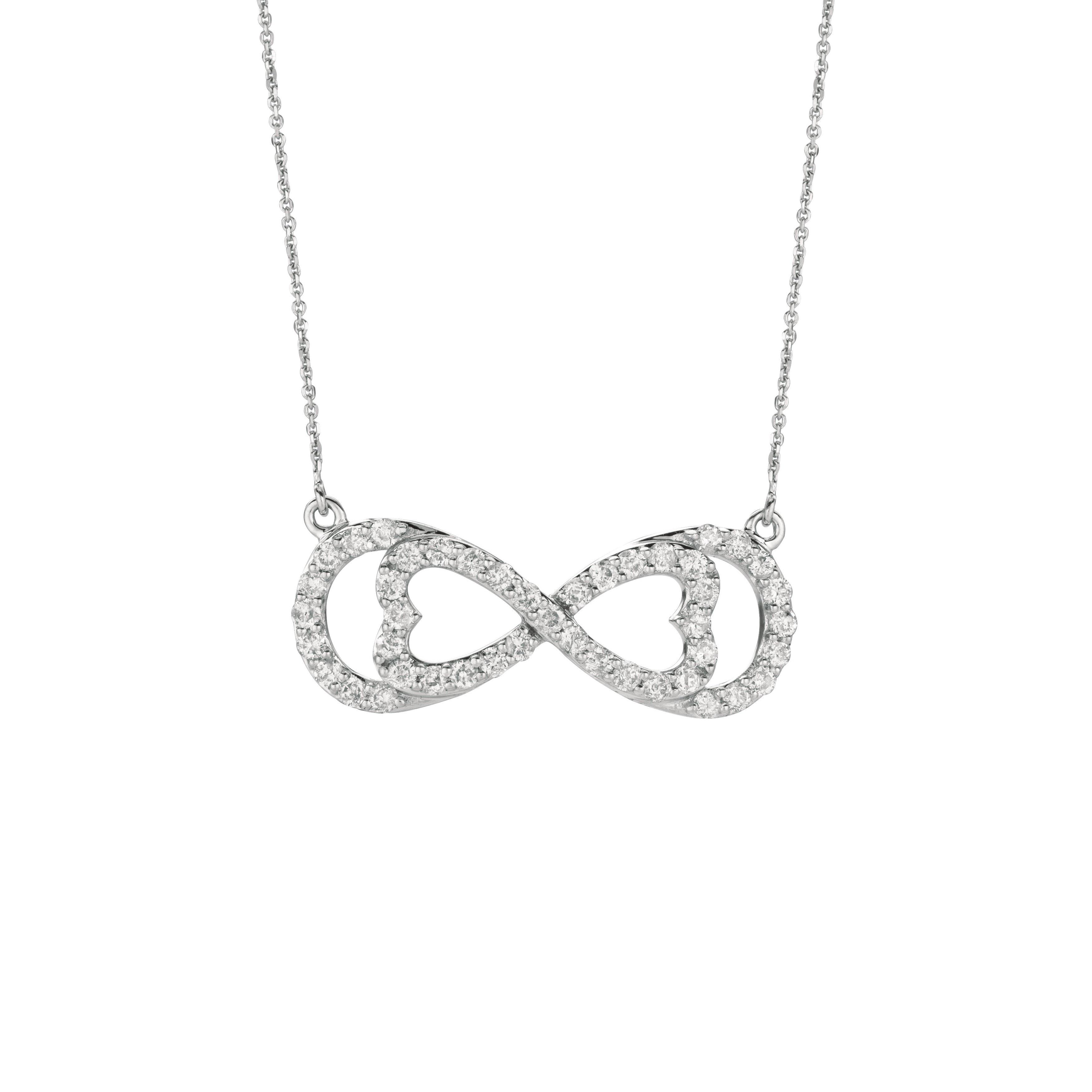 14k White Gold 3/4ct TDW Diamond Horizontal Love for Infi...