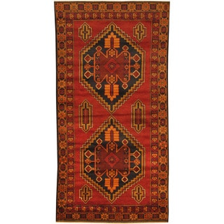 Herat Oriental Afghan Hand-knotted Tribal Balouchi Wool Rug (3'6 x 6'9)
