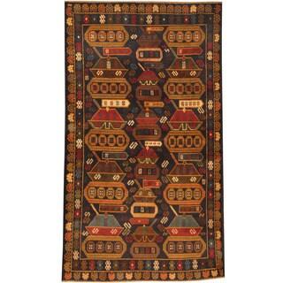 Handmade Herat Oriental Afghan Tribal Wool War Rug - 3'7 x 6'4 (Afghanistan)