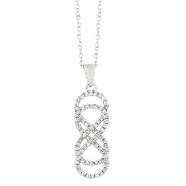 14k white gold 15ct tdw diamond double infinity pendant free 14k white gold 15ct tdw diamond double infinity pendant aloadofball Image collections