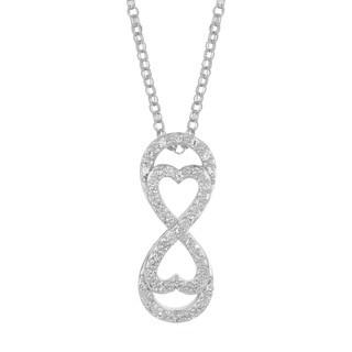14k White Gold 1/2ct TDW Diamond Infinity Necklace