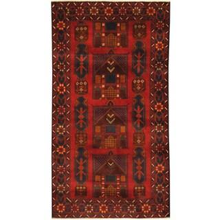 Herat Oriental Afghan Hand-knotted Tribal Balouchi Wool Rug (3'6 x 6'4)