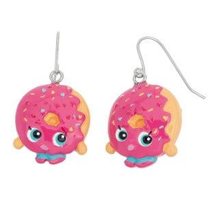 Shopkins Metal Poly D'Lish Donut Fishhook Children's Dangle Earrings
