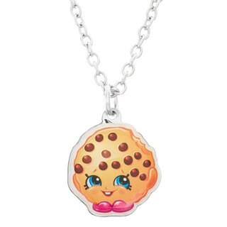 Shopkins Children's Silvertone Printed Kooky Cookie Pendant Necklace