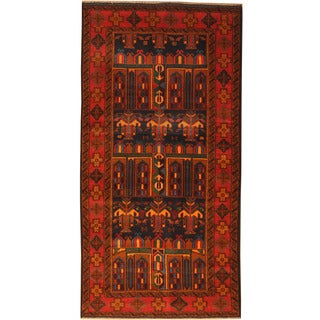 Herat Oriental Afghan Hand-knotted Tribal Balouchi Wool Rug (3'5 x 6'9)