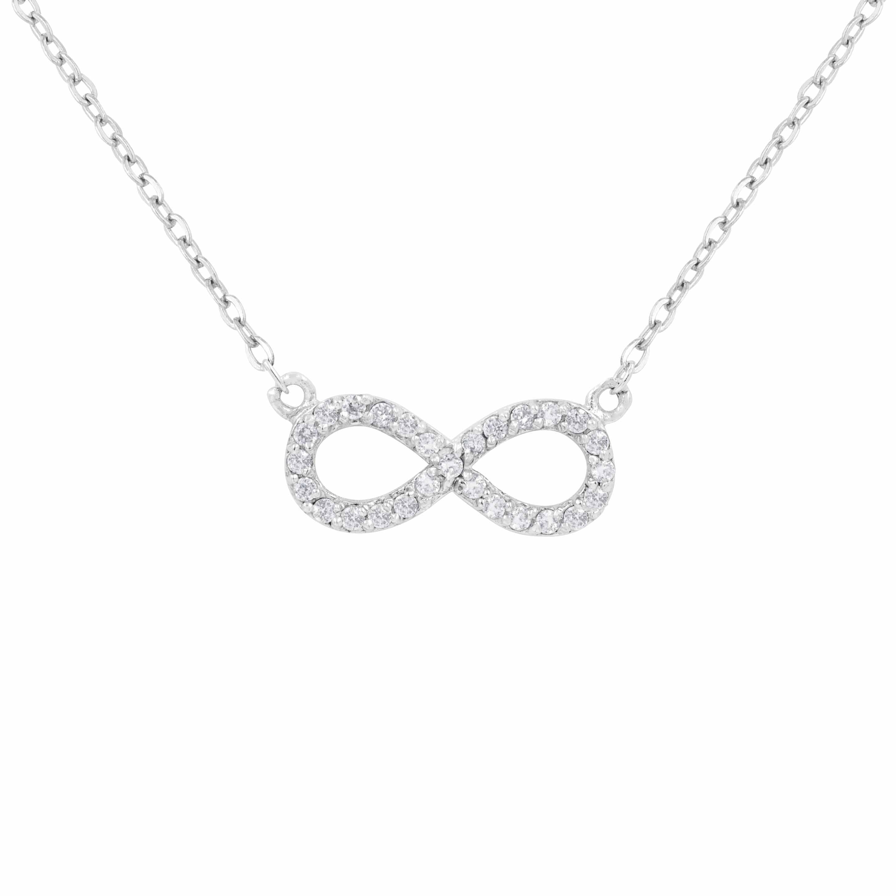 Sterling Silver Diamond 1/2ct TDW Infinity Necklace (Ster...