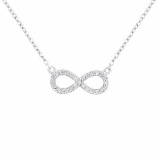 Sterling Silver Diamond 1/2ct TDW Infinity Necklace