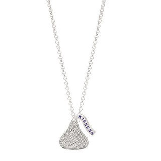 Hershey's Kisses White Sterling Silver/Cubic Zirconia Women's Pendant Necklace