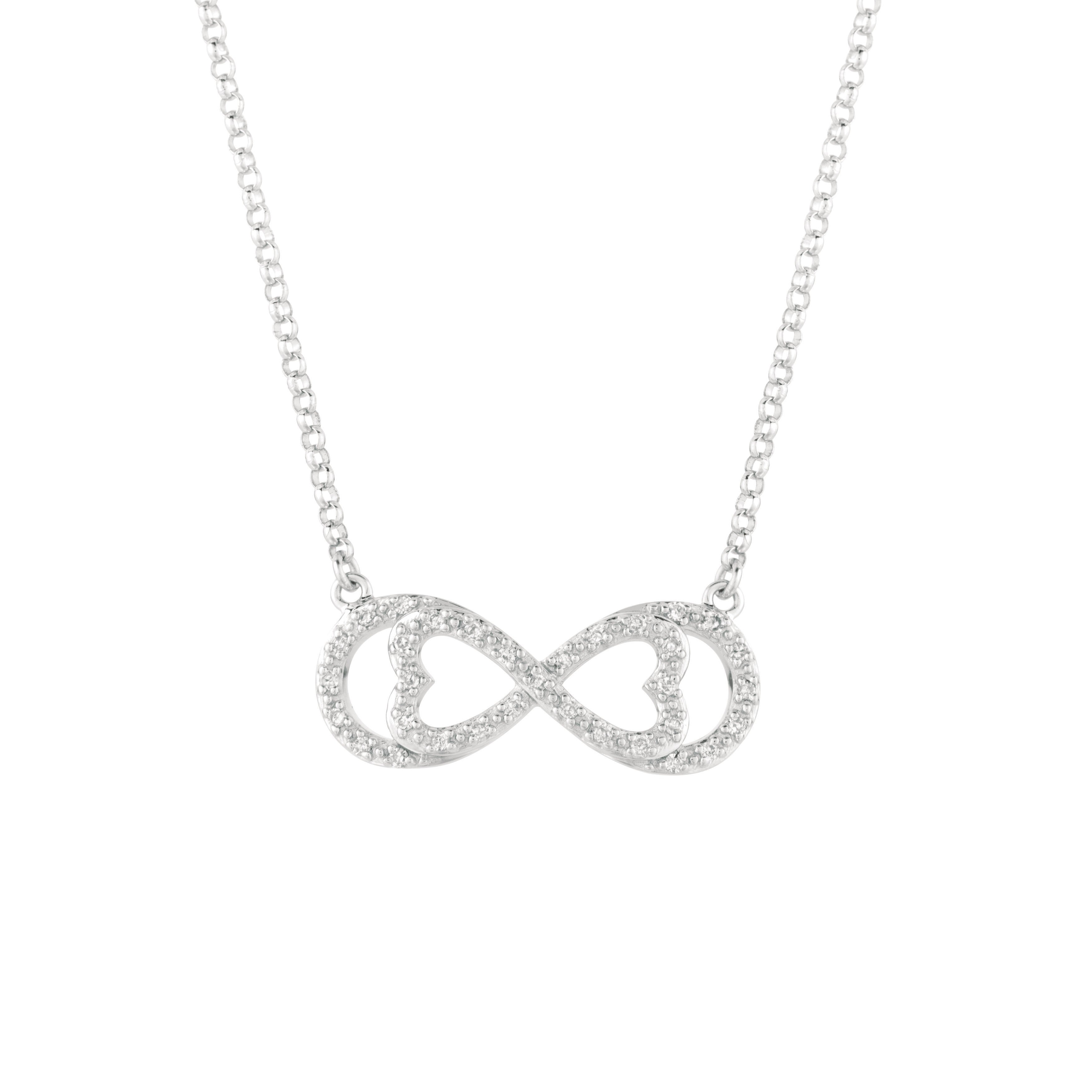 Sterling Silver 1/6ct TDW Diamond Horizontal Love for Inf...