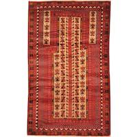 Herat Oriental Afghan Hand-knotted Tribal Balouchi Wool Rug - 2'10 x 4'8