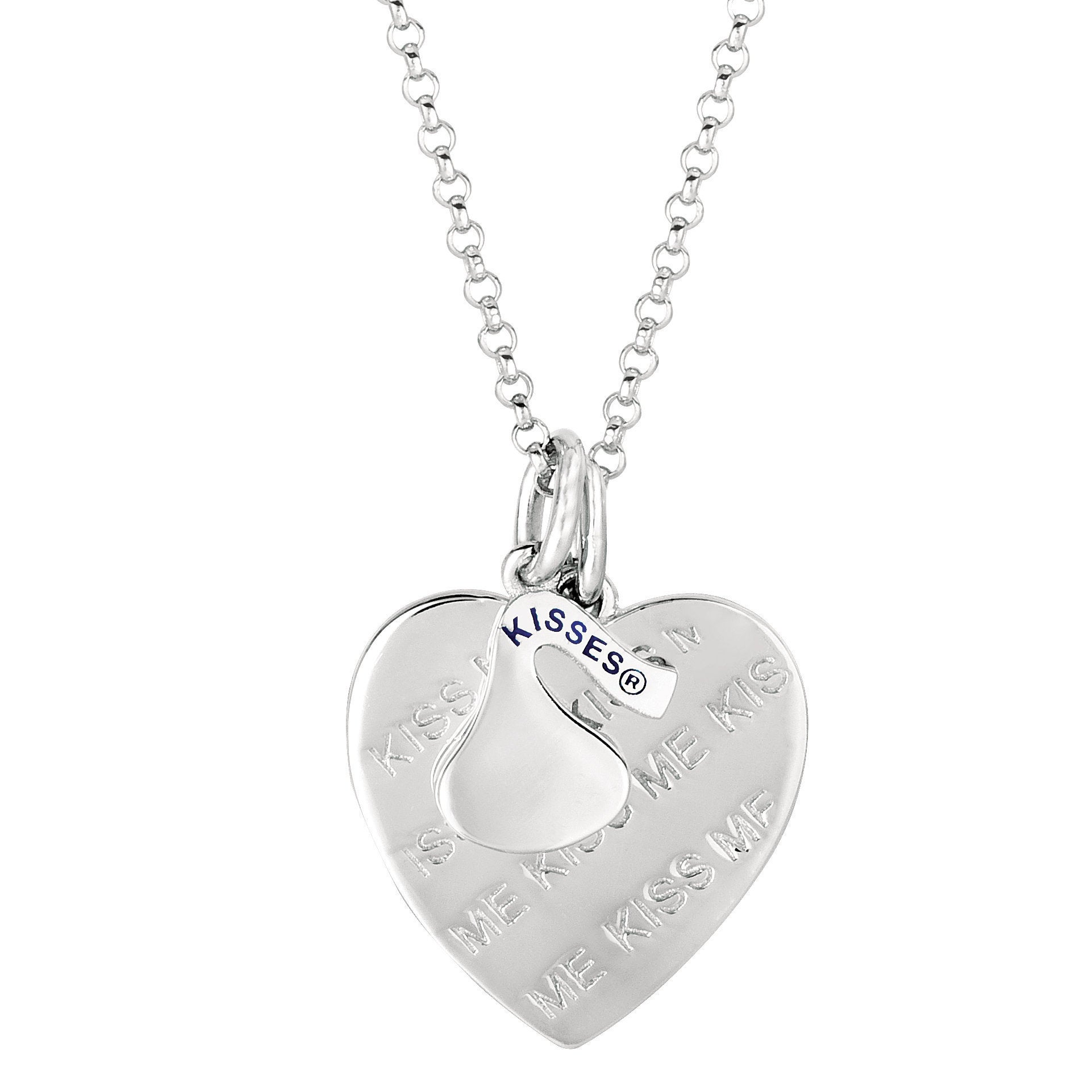 Hershey's Kisses Women's Sterling Silver Heart 'Kiss Me' ...