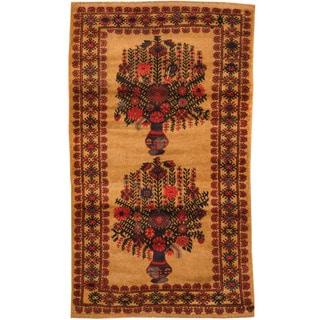 Herat Oriental Afghan Hand-knotted Tribal Balouchi Wool Rug (2'8 x 4'7)