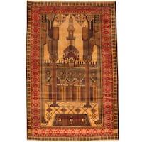 Herat Oriental Afghan Hand-knotted Tribal Balouchi Wool Rug (3'1 x 4'8)