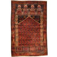 Handmade Herat Oriental Afghan Tribal Balouchi Wool Rug (Afghanistan) - 2'10 x 4'3