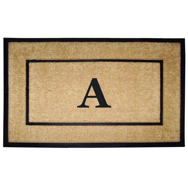Coir/ Rubber Frame Monogrammed Mat (2'6 x 4')