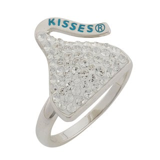 Sterling Silver Crystal Women's Hershey Kiss Ring