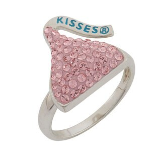 Hershey's Kisses Sterling Silver Crystal Women's Hershey Kiss Ring
