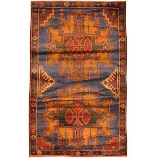 Herat Oriental Afghan Hand-knotted Tribal Balouchi Wool Rug (3' x 4'10)