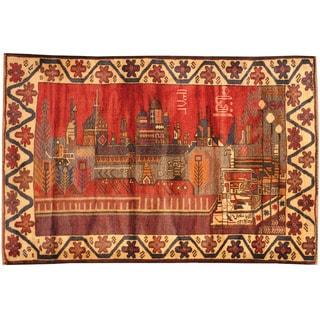 Herat Oriental Afghan Hand-knotted Tribal Balouchi Wool Rug (3' x 4'8)