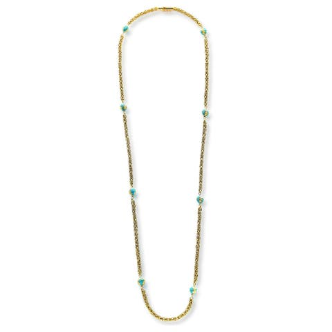 18K Yellow Gold Antique Byzantine Gold Chain