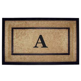 Monogrammed Coir Rubber Frame Doormat (22 in. x 36 in.)