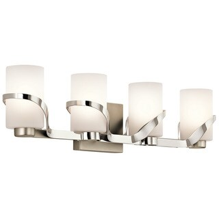 Kichler Lighting Stelata Collection 4-light Polished Nickel Bath/Vanity Light