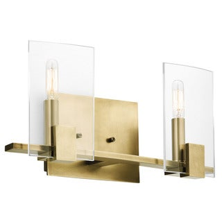 Kichler Lighting Signata Collection 2-light Natural Brass Bath/Vanity Light