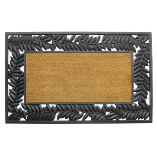 Tan and Olive Border Coir and Rubber Mat (30 in. x 48 in)