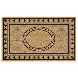 SuperScraper Bungalow Tan/ Black Vinyl Coir 36-inch x 20-inch Mat