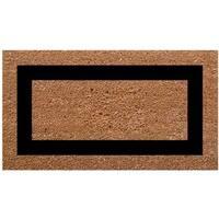 "SuperScraper Plain/ Black Frame Single Picture Frame Doormat - 1'6"" x 2'6"""