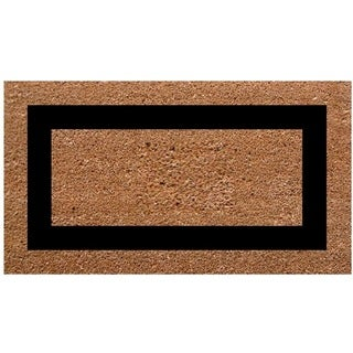 SuperScraper Plain/ Black Frame Single Picture Frame Doormat (36 in. x 20 in.)
