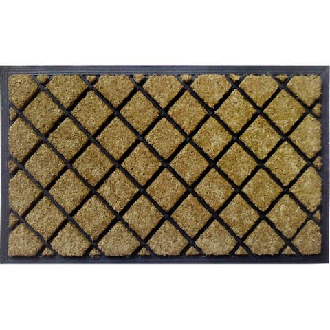 Dirtbuster Coir and Rubber 30-inch x 18-inch Lattice Mat
