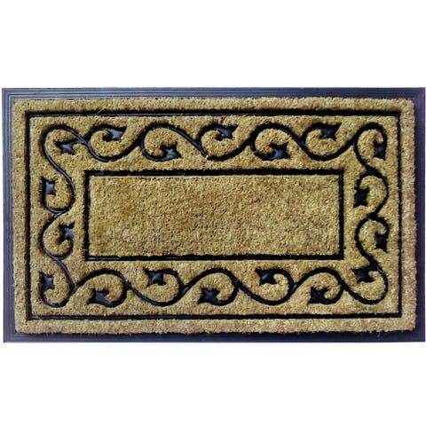 Dirtbuster Tan Coir and Rubber 30-inch x 18-inch Vine Mat
