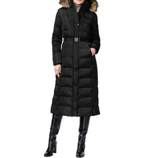 Michael by Michael Kors Women's Black Down/Polyester Belted Maxi Coat|https://ak1.ostkcdn.com/images/products/13687276/P20350525.jpg?impolicy=medium