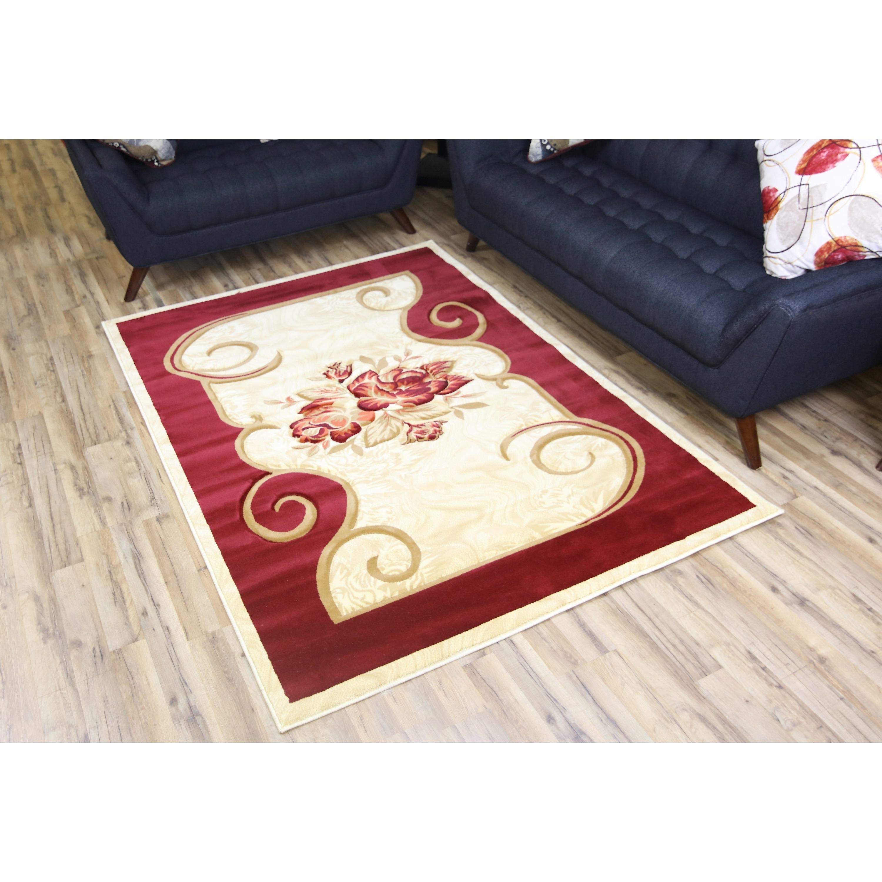 Bekmez Rug Rosa Red Polypropylene Machine-made Area Rug (...