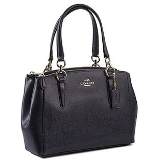 Coach Crossgrain Mini Christie Midnight Blue Carryall Handbag