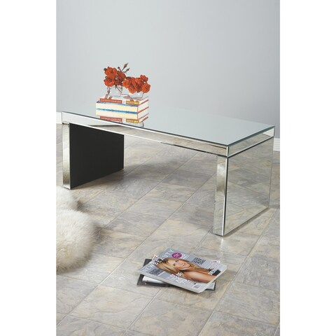 Statements by J Bridget Mirrored Glass Coffee Table