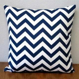 Artisan Pillows Indoor/Outdoor Chevron Navy 18-inch Throw Pillow Cover (Set of 2)