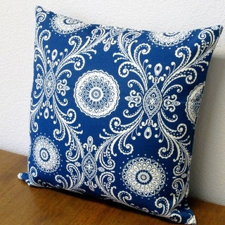 Artisan Pillows Outdoor 18-inch Reflective Indigo Blue Throw Pillows (Set of 2)