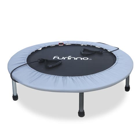Furinno 38-inch Trampoline with Monitor and Resistance Tubes
