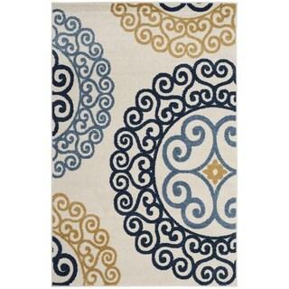 Safavieh Amherst Indoor/ Outdoor Ivory/ Gold Rug (3' x 5')