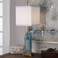 Uttermost Annabella Teal Glass Accent Lamp