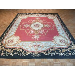 Hand-Knotted Red Chinese Aubusson with Wool Oriental Rug (2'6 x 12')|https://ak1.ostkcdn.com/images/products/13687433/P20350967.jpg?impolicy=medium