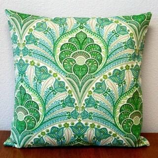 Artisan Pillows Green Polyester 18-inch x 18-inch Outdoor Throw Pillow (Set of 2)