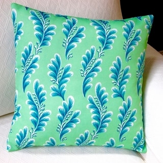 Artisan Pillows Tropical Island Seagrove Caribbean in Mint Polyester 18-inch Indoor/Outdoor Throw Pillow Cover (Set of 2)
