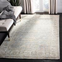 Safavieh Hand-Knotted Maharaja Vintage Light Blue/ Ivory Viscose Rug (8' x 10')