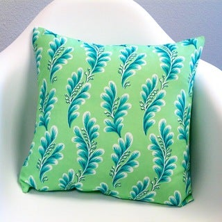 Artisan Pillows Indoor/Outdoor Tropical Island Seagrove Caribbean Mint Throw Pillows (Set of 2)