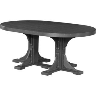 Poly Outdoor 4X6 Foot Counter Height Oval Table