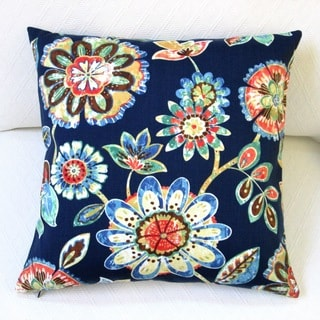 Artisan Pillows 18-inch Outdoor Daelyn Navy Polyester Throw Pillow Covers (Set of 2)