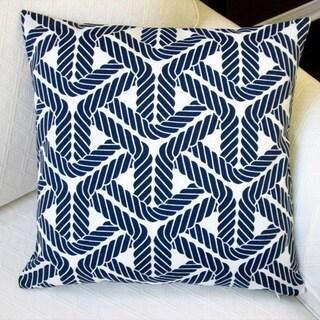 Artisan Pillows Outdoor 18-inch Trellis Navy Throw Pillow (Set of 2)